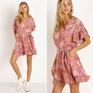 Spell & The Gypsy Rosa Playdress Blush XS NWT